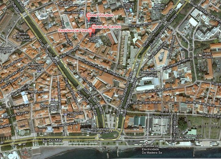 mapa do funchal ruas Mapa Das Ruas Do Funchal Madeira | thujamassages mapa do funchal ruas